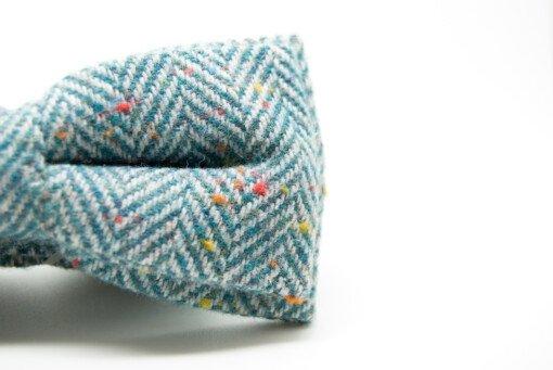 Butterfly i lyseblå tweed