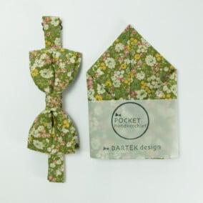 Blomstret butterfly med lommetørklæde