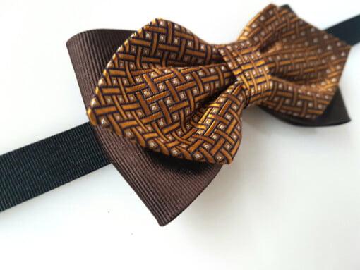 Butterfly i silke, med gyldent mønster 3