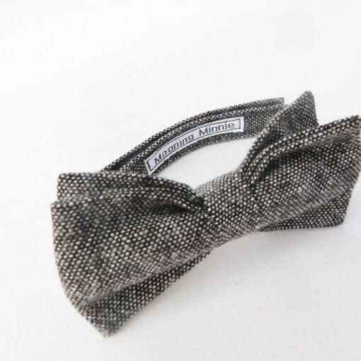 Butterfly i sort/grå tweed 5