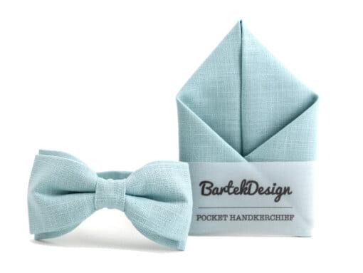 Butterfly og lommetørklæde i støvet lyseblå