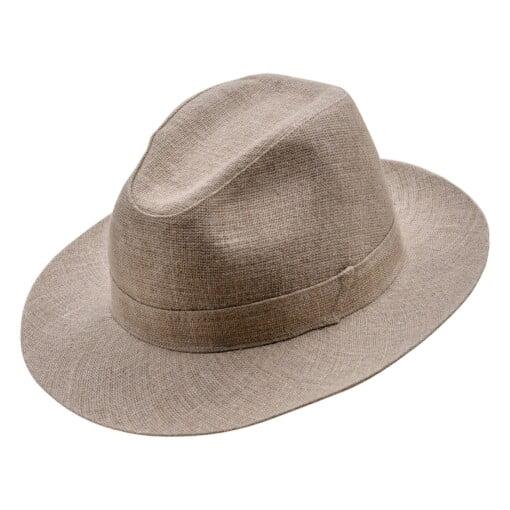 Beige Fedora hat, model Corleone 3