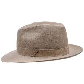 Beige Fedora hat, model Corleone 7