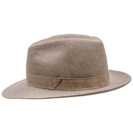 Beige Fedora hat, model Corleone 2