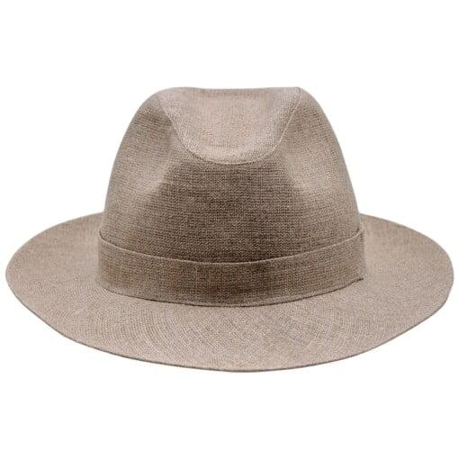 Beige Fedora hat, model Corleone 1