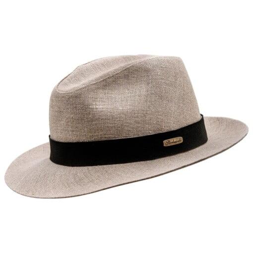 Beige Fedora hat, model Corleone 5