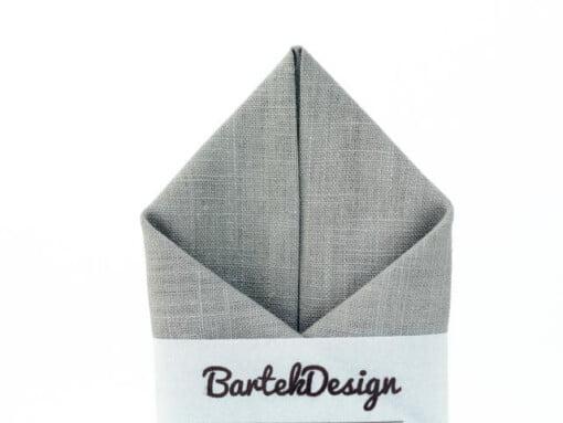 Lysegråt lommetørklæde i lærredstof