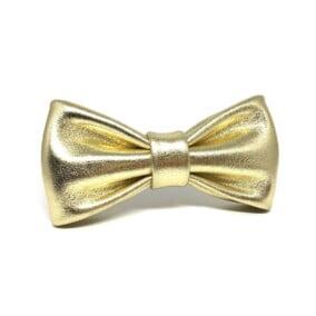 Guld-farvet butterfly i læder