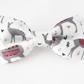 Hvid jule-butterfly med rensdyr