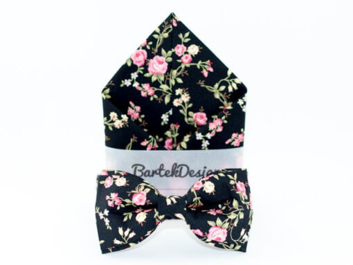 Butterfly og lommetørklæde med roser