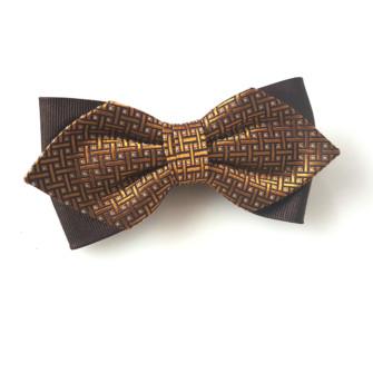 Butterfly i silke, med gyldent mønster 4