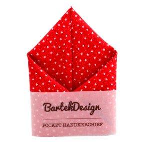 Rødt lommetørklæde med stjerner