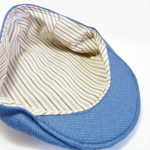Inderfor i sixpence i blåt tweed