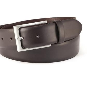 Klassisk polo læderbælte mørkebrun