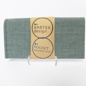Lommetørklæde i støvet grøn
