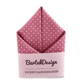 Lommetørklæde i støvet pink