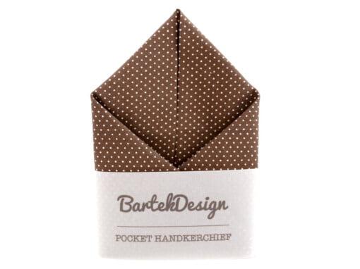 Lommetørklæder i brun med prikker