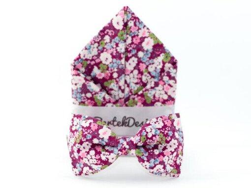 Magenta butterfly-sæt med blomster