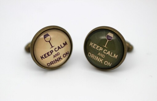 Manchetknapper - Keep calm and drink on