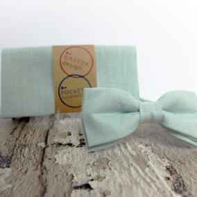 Mintgrøn butterfly med lommetørklæde 9