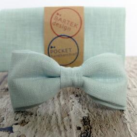 Mintgrøn butterfly med lommetørklæde 7