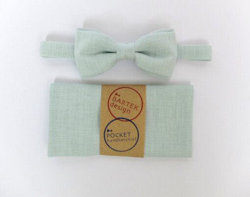 Mintgrøn butterfly med lommetørklæde 3