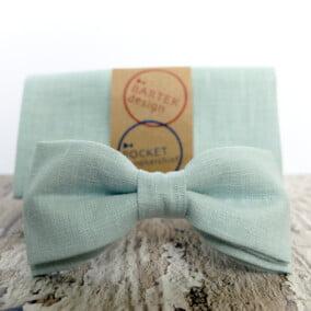 Mintgrøn butterfly med lommetørklæde 8