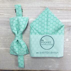 Mintgrøn butterfly med lommetørklæde og blomster
