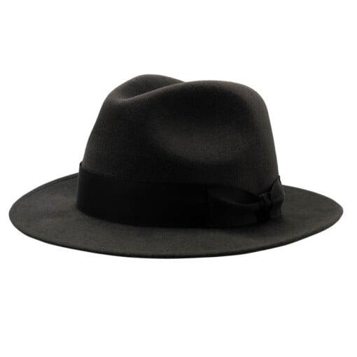 Mørkegrå Fedora hat i filt