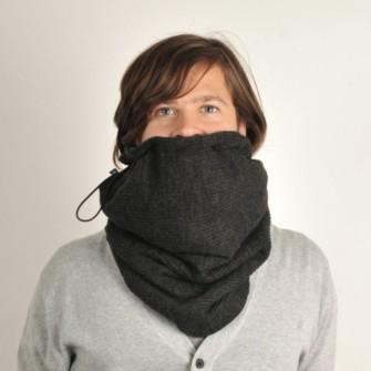 Mørkegråt tube tørklæde