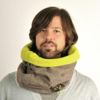 Neon tube tørklæde med pels