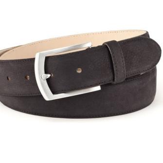 Nubuk læderbælte sort