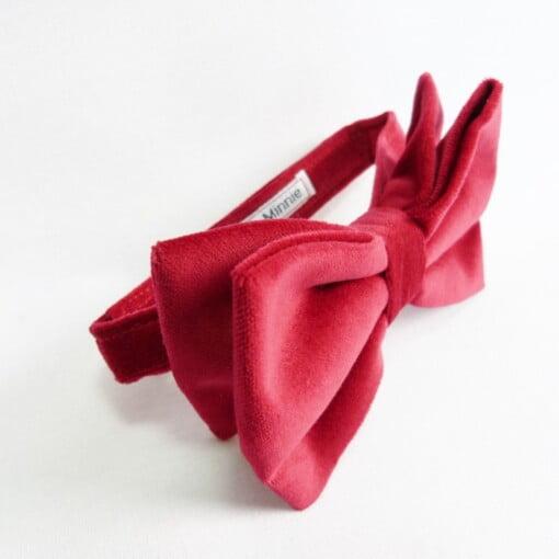 Oversize-butterfly i rød fløjl 3