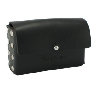 Visitkortholder i sort læder