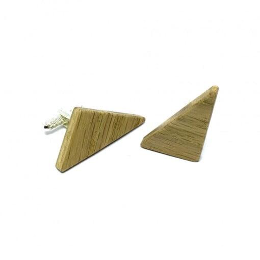 Trekantede manchetknapper i asketræ